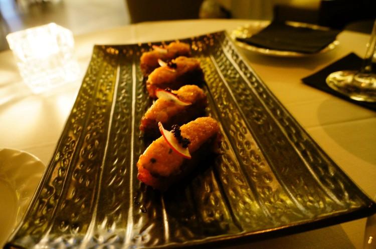 Crispy Salmon Sushi 45AED