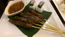 Beef Satay ( Good, but I still prefer chicken ). And please finish off all the peanut sauce or I'll come and tell you off :)