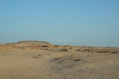 The landscape around Sir Bani Yas Island