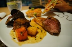 Roast lamb, roasted potatoes