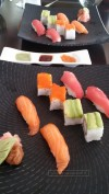 Selection of sushi